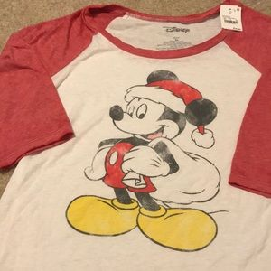 Mickey Christmas Baseball Tee